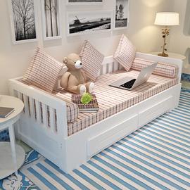 实木沙发床 1.5双人1.8米 客厅可折叠多功能抽拉式两用小户经济型