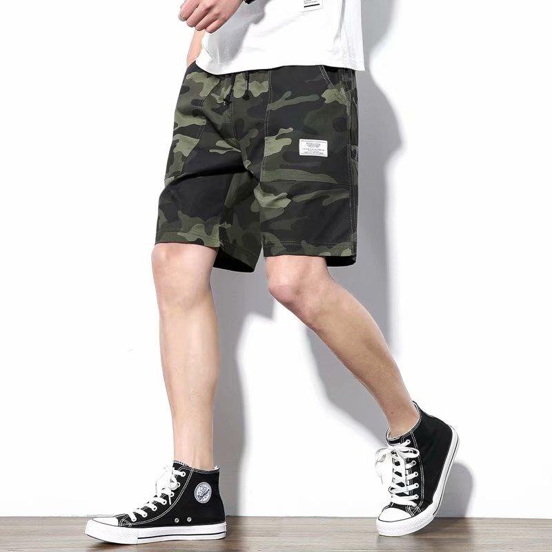 2021 new tooling shorts mens summer leisure sports camouflage Capris mens cotton versatile large pants