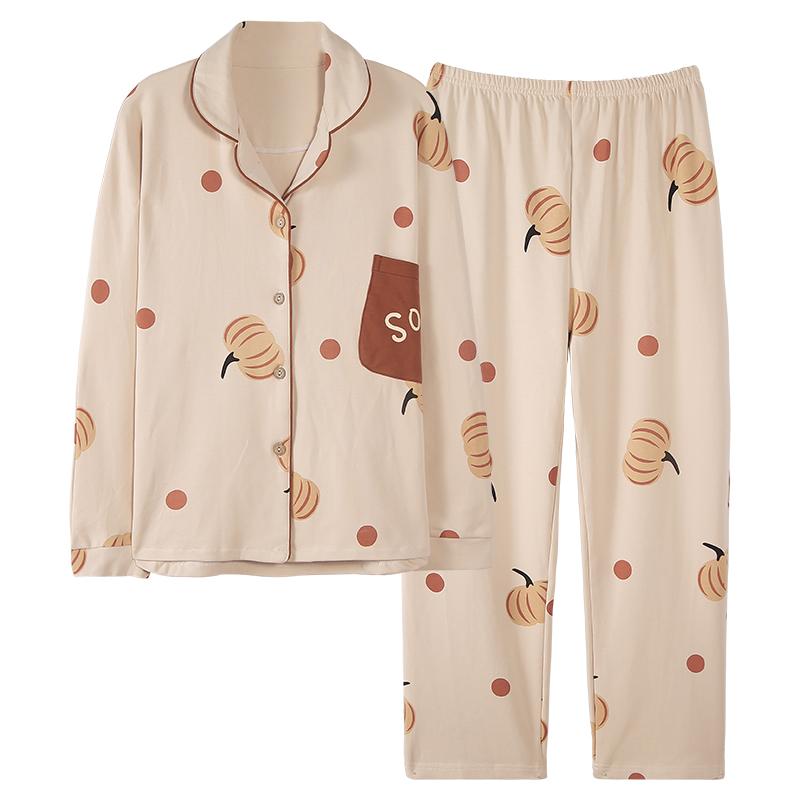 南极人睡衣女春秋款纯棉长袖可爱可外穿全棉薄款家居服女士夏套装