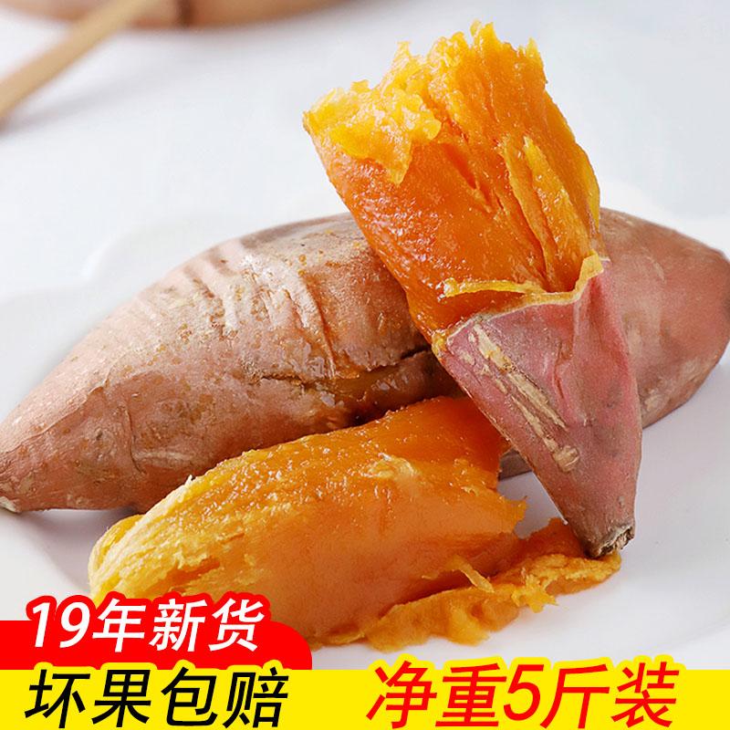 沙地新鲜红薯5斤地瓜番薯山芋红黄心农家现挖糖心蜜薯板栗香薯1011月08日最新优惠