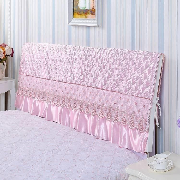 2018新款蕾丝公主床头罩床头防尘罩5.83元包邮