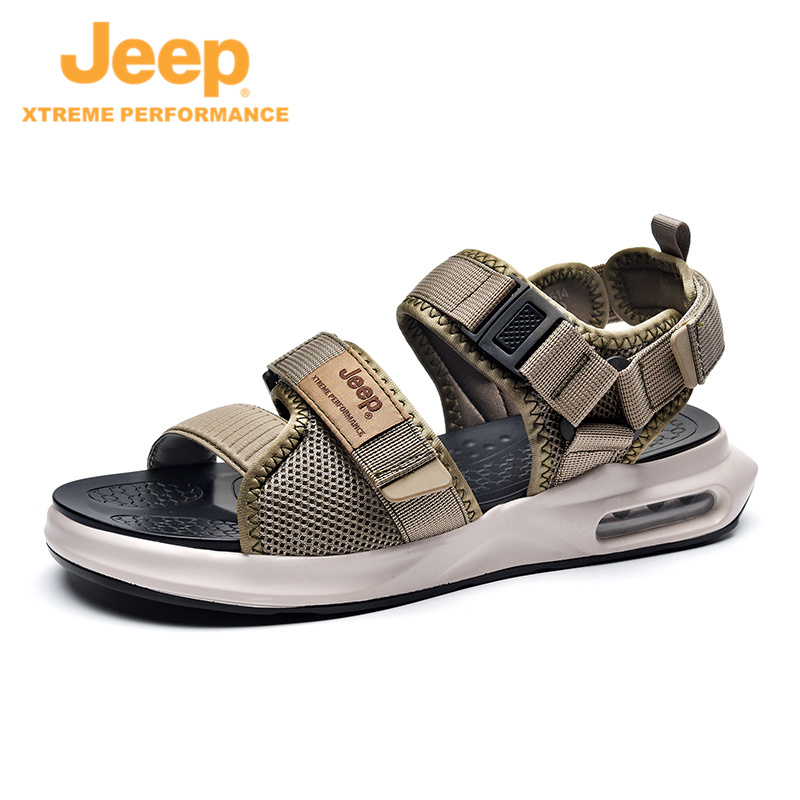 Jeep high-end business sandals men's 21st summer new moisture pad cold slippers casual outdoor tourism beach shoes
