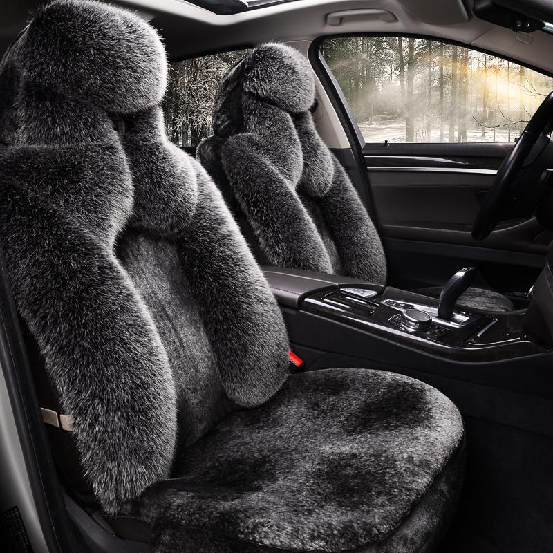 汽车坐垫冬季短毛绒秋冬款保暖车椅套冬天专用全包座套加绒车垫子
