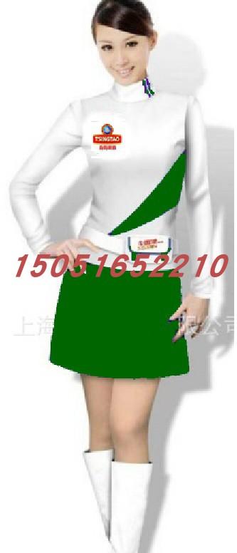 Customized hotel uniform supermarket beer milk beverage promoter work clothes winter thickening women suit customization