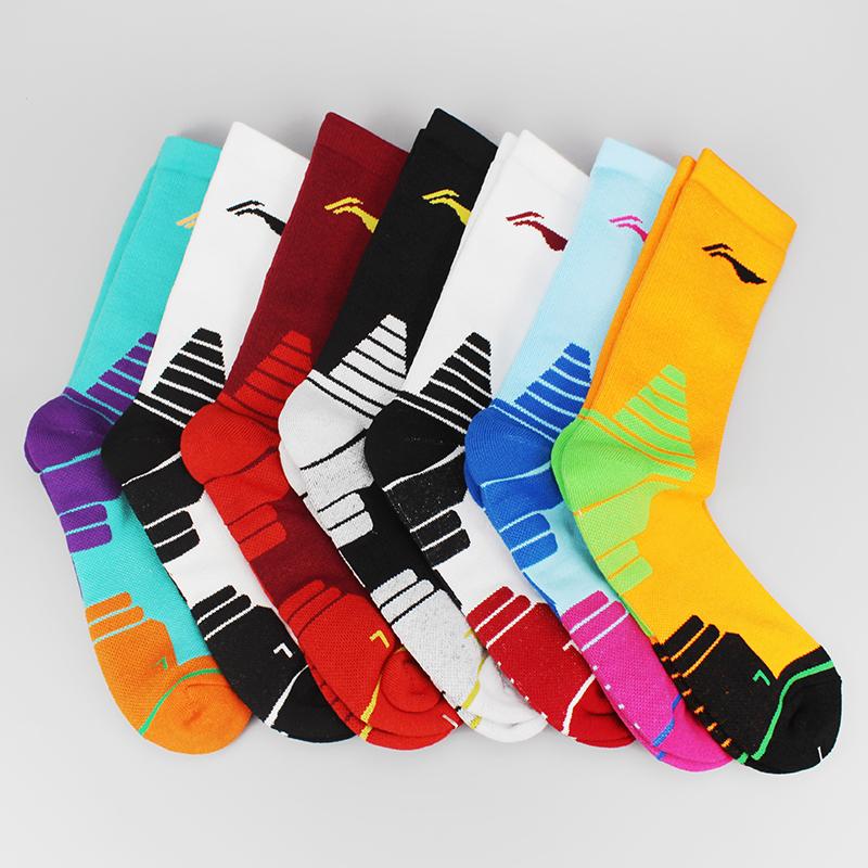 李宁CBA联赛全明星赛赞助篮球袜加厚防滑精英袜高帮毛巾底运动袜图片