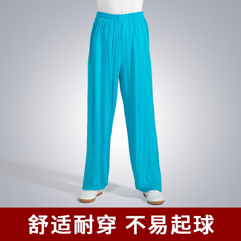 太极服裤夏季莫代尔透气瑜伽灯笼裤男女宽松太极拳戏曲练功裤武术