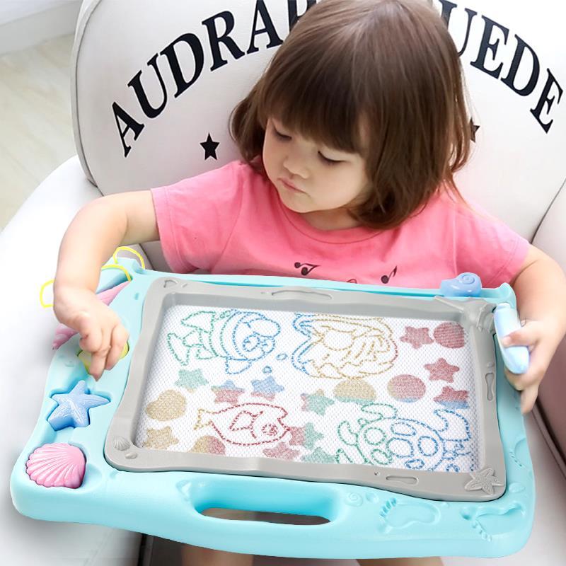 儿童画画板磁性写字板宝宝婴儿小玩具1-3岁2幼儿彩色加大号涂鸦