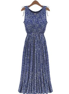 妈妈棉绸连衣裙2020新款夏天沙滩裙