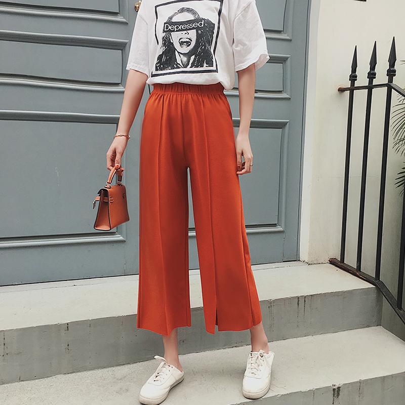 【秒杀】春夏新款条纹显瘦阔腿裤-优惠后40元包邮