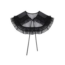 DESIGNER PLUS 黑色防晒披肩外搭女2021年夏季新款爆款配裙子上衣