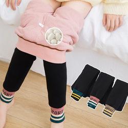 女童保暖裤加绒加厚北方冬季特厚打底裤外穿三层蚕丝儿童棉裤新款