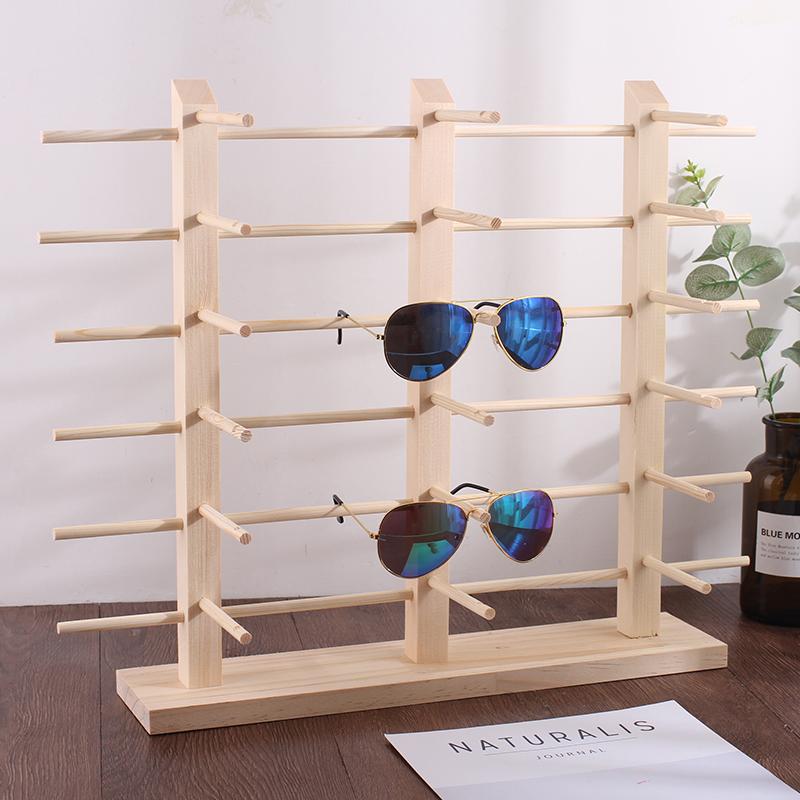 实木近视眼镜架眼睛展示架原松木木质太阳镜陈列支架子眼睛货架