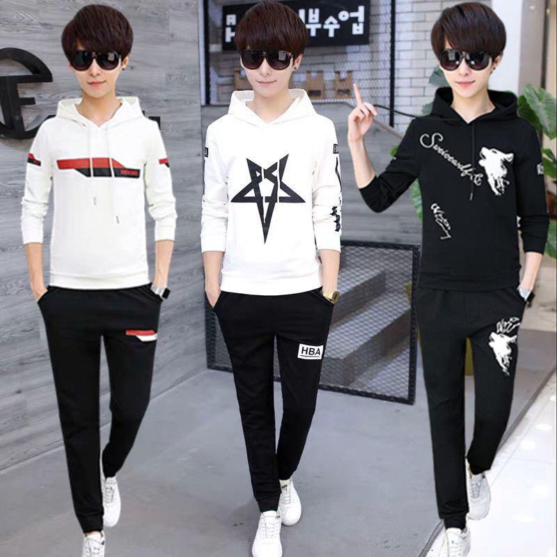Spring youth sweater suit for boys 13 junior high school students long sleeve T-shirt for boys 12-15