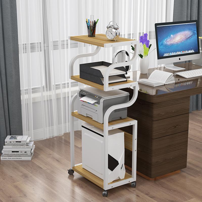 创意电脑主机架打印机置物架办公室收纳架复印一体电话架台式机架