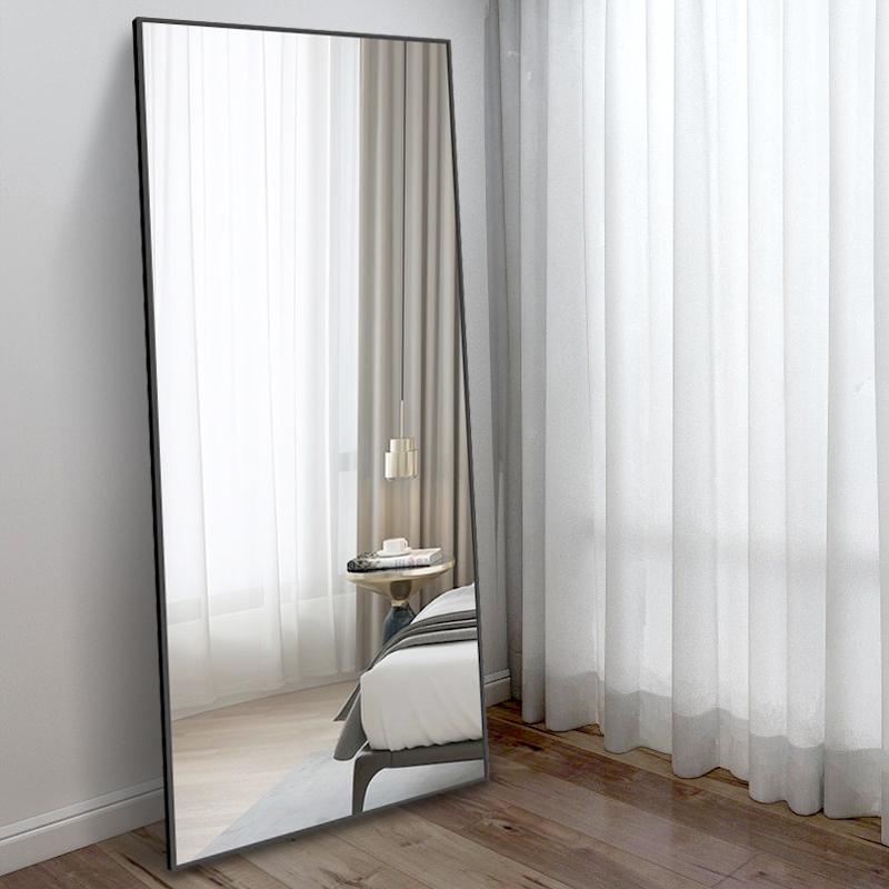 镜子全身穿衣镜家用卧室落地镜壁挂粘贴贴墙特价穿衣镜大立体镜