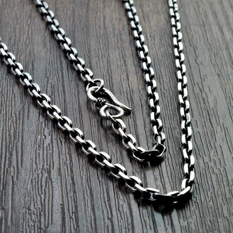 [悠莲银饰批发项链]925纯银男士个性太角链泰银复古时尚月销量315件仅售65元