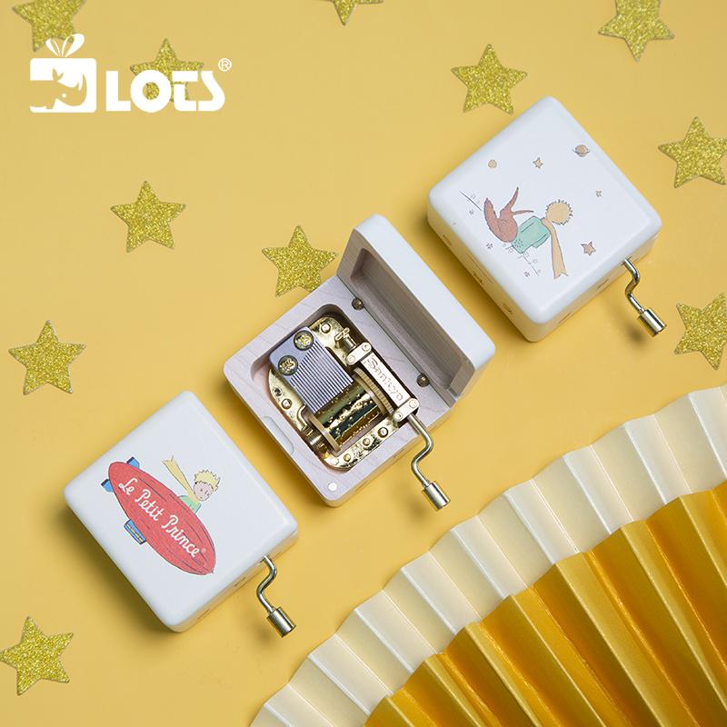 LOTS | 小王子迷你手摇音乐盒木质八音盒创意女生儿童生日礼物