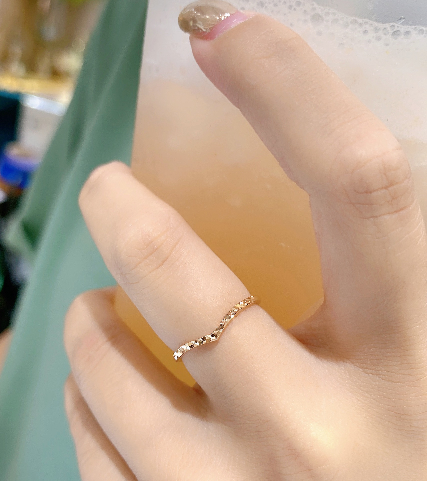 18K金钻石戒指玫瑰金K黄金K白金尾戒