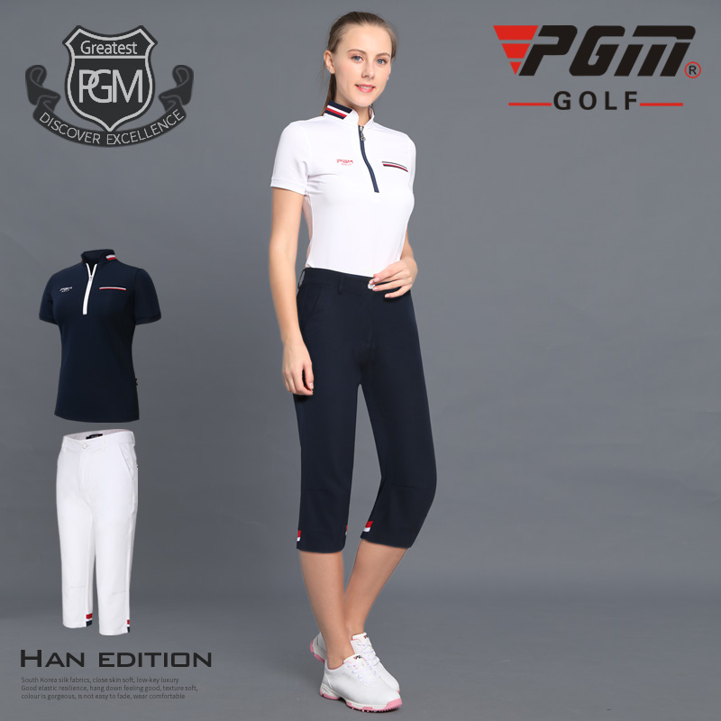 PGM summer! Golf clothes womens Suit Shorts / Capris short sleeve T-shirt womens clothing