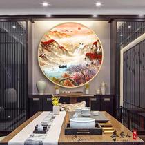 客廳裝飾畫紅梅國畫喜上眉梢書法字畫梅花圖絲綢畫喜鵲報春掛畫