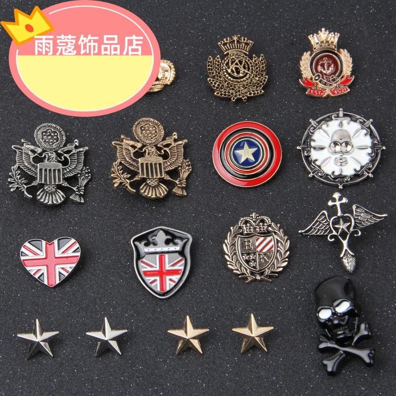 金属勋章韩国时尚配饰品复古个性米字爱心合金胸针男女西装小徽章