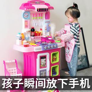 小伶儿童厨房玩具套装做饭煮饭厨具女童女孩子过家家宝宝3-6岁7图片