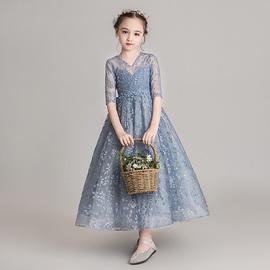 儿童洋气礼服小女孩走秀主持人公主裙女童蓬蓬纱花童钢琴演出服冬