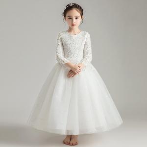 花童礼服女童女孩公主裙蓬蓬纱2020新款儿童婚纱晚礼服钢琴表演服