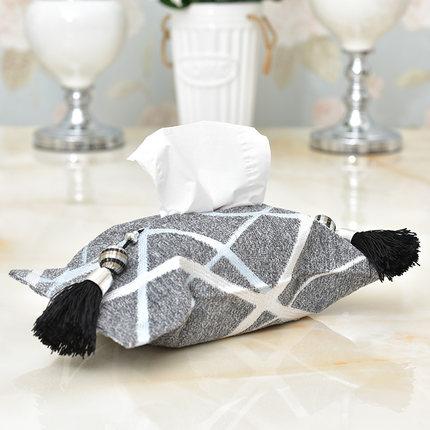 创意现代简约抽北欧时尚布艺纸巾盒