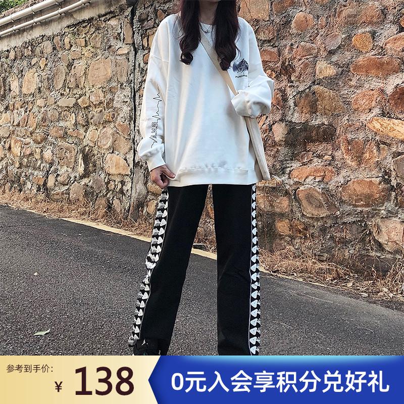 丝叔潮社TYST秋冬男女国潮长裤