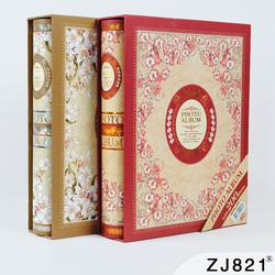 相册影集 4D大6寸相册本200张 家庭相册插页式复古相册本纪念册