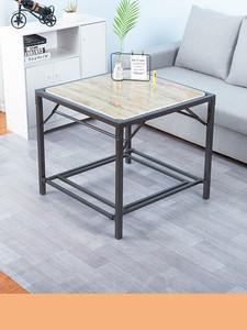 烤火桌子家用烤火架正方形多功能烤火取暖餐桌不锈钢四方桌可折叠