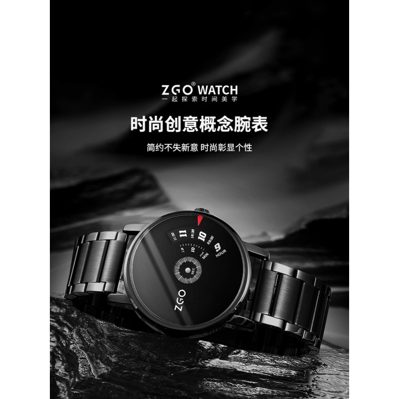 No concept watch, male minimalist wind student, electronic mechanical physics formula, original year, male domineering watch, black Technology