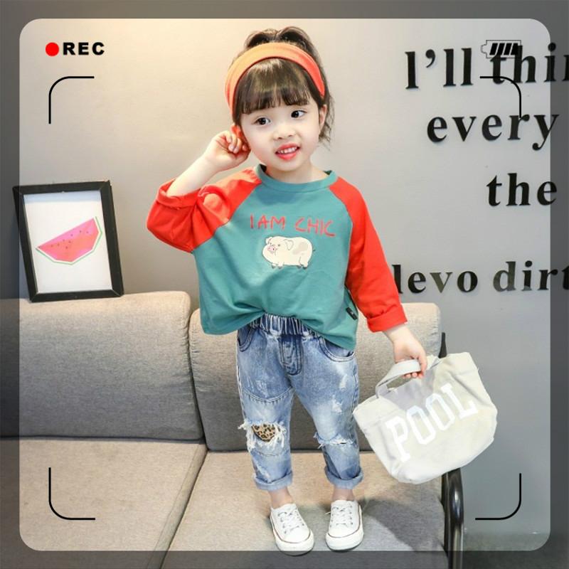 。儿童上衣女童体桖长袖 洋气2020新款宝宝棉质t恤女孩打底衫春秋
