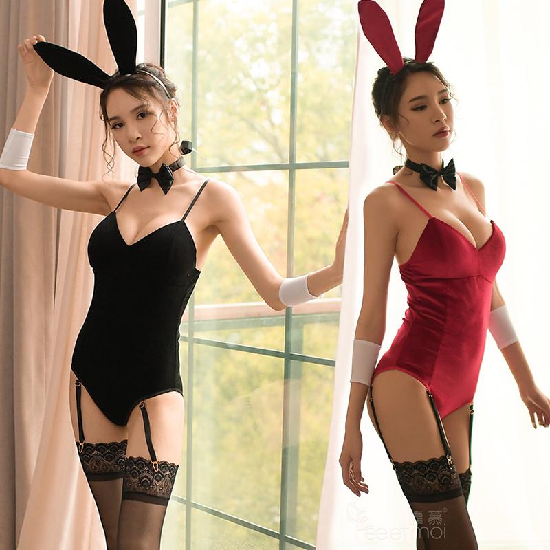 性感情趣内衣服开档兔女郎连体衣夜火制服诱惑紧身激情套装骚女式