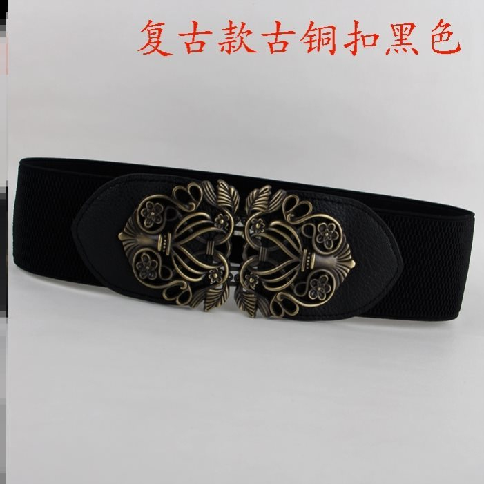 Dress belt accessories spring thick womens decoration widened dress versatile black simple group with skirt