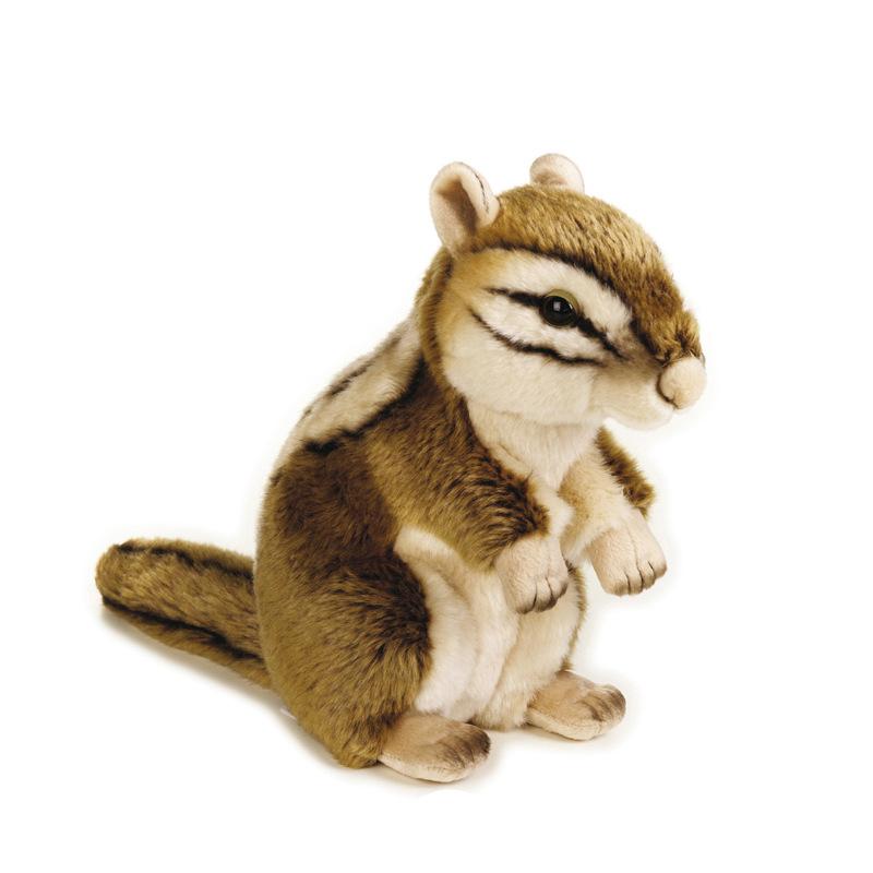 地理杂志定制精致花栗鼠长毛绒玩偶可爱松鼠仿真动物毛绒公仔玩具