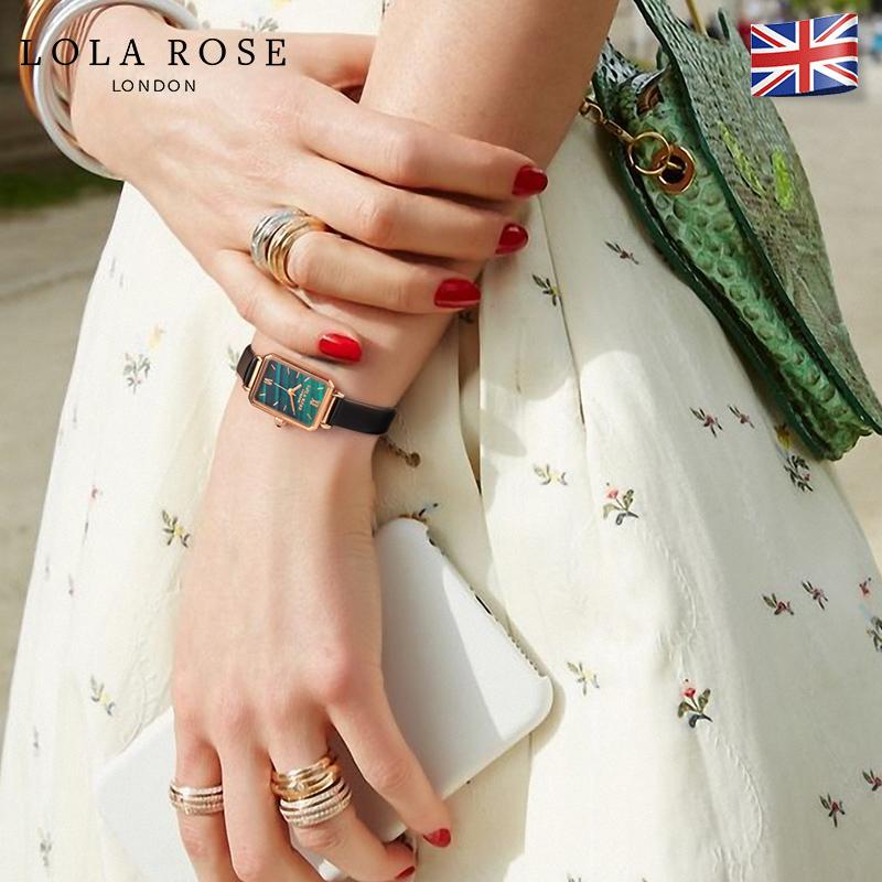 Lola Rose手表女ins风轻奢女表dw手表复古小方盘正品名牌手表