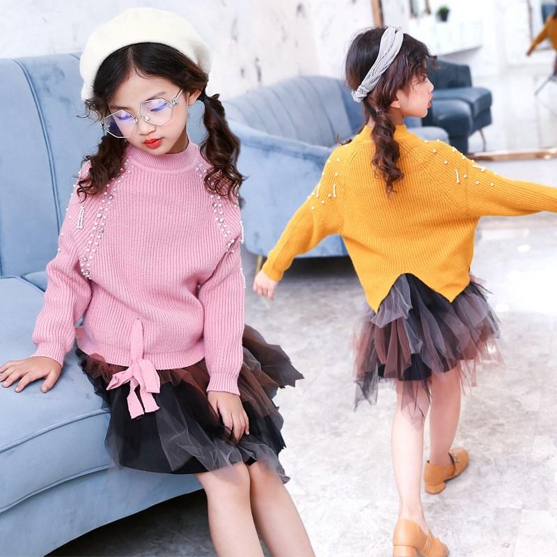 女童套头毛衣外套8春秋女孩中大童9儿童羊绒衫宽松挂珠10毛衫12岁