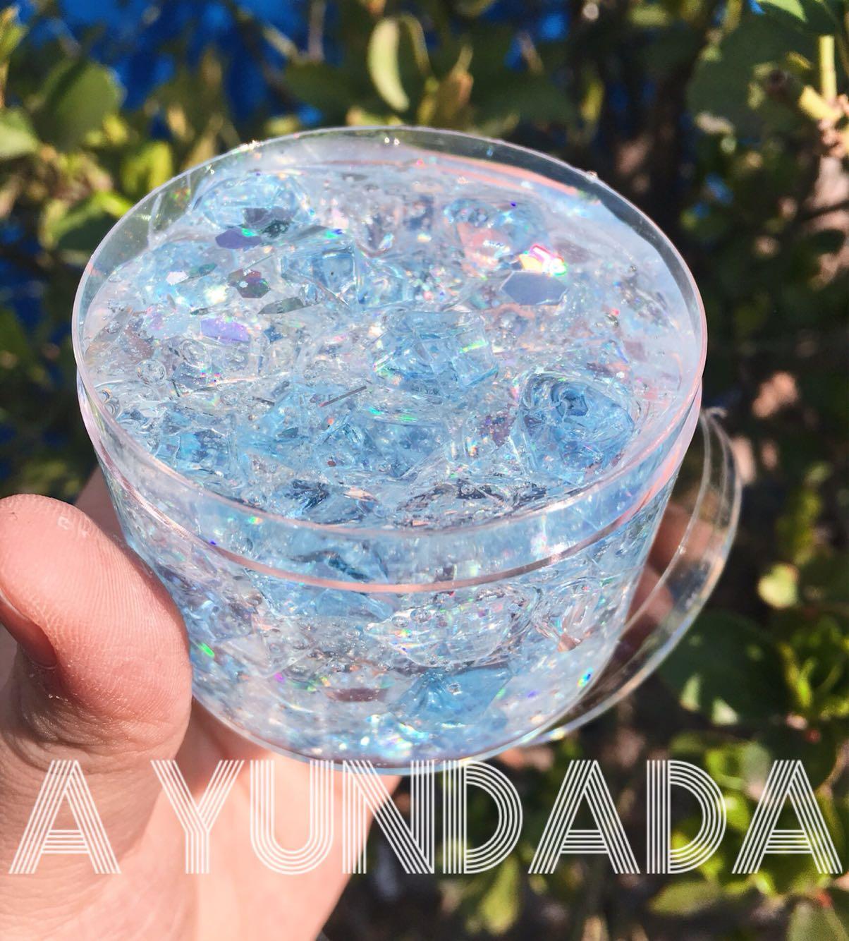 新品梦幻冰晶琥珀糖水晶泥透太鬼包邮 史莱姆泰透泥 水晶泥成品限1000张券