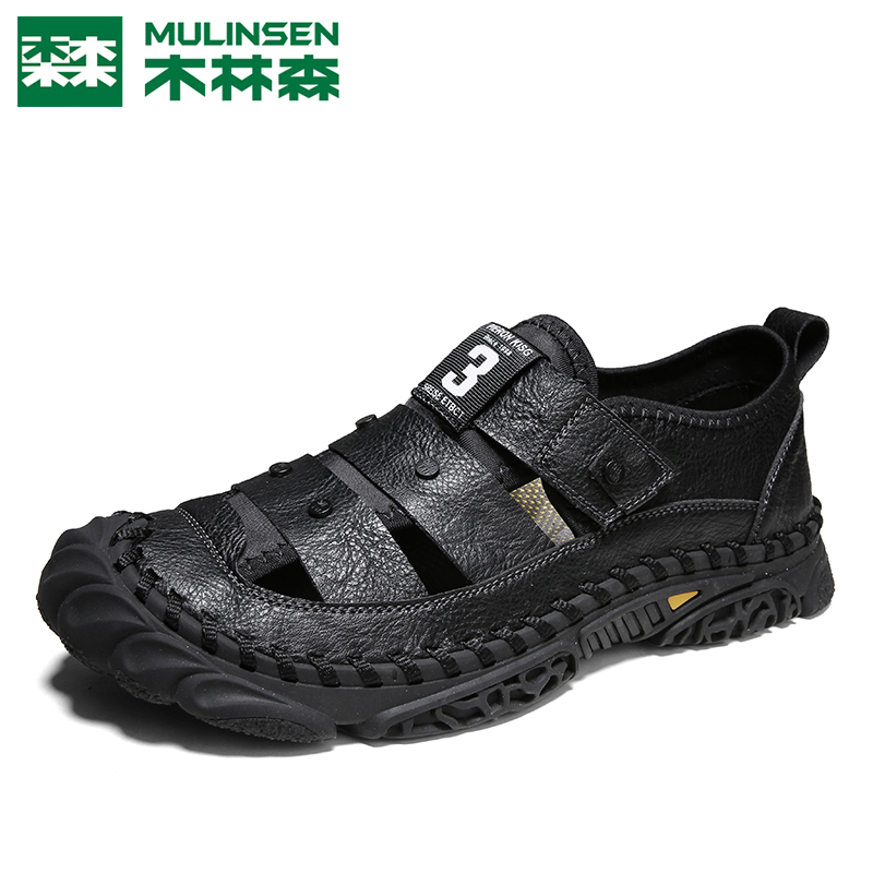 Muslin Sen Beach Shoes Male 2021 new summer sports sandals men's bags outside the cave shoes breathable men's shoes