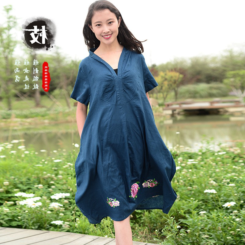 New hot selling cotton and hemp womens wear in Japan