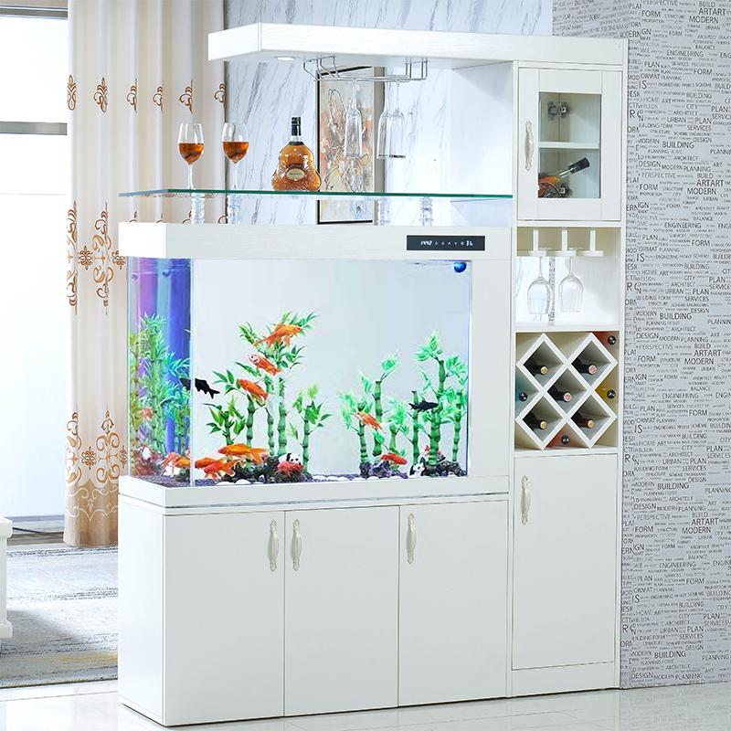 鱼缸水族箱欧式创意大中型子弹头家用客厅屏风隔断可定制免换水
