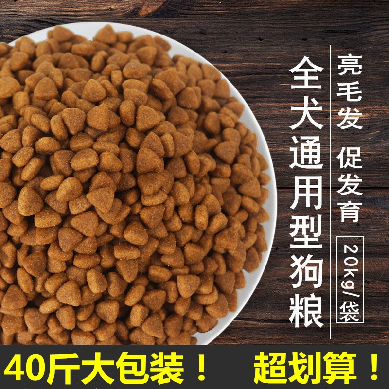 Captain Wang Wang dog food 20kg40kg large and medium-sized adult puppies golden Samo beef all-round Teddy is more common than bear