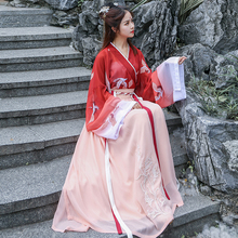 Han Dress Girl Chinese Style and Ancient Fashion Fairy Elegant Ancient Style Super Fairy Students Will Out of print Ming Fairy Waist Summer