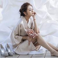 Звезда фасон унисекс подружка невесты новый Женское платье матери свадебное Макияж халата из шелка с ручным пижамным халатом летом