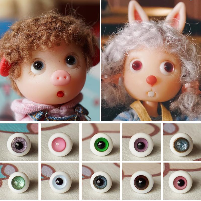 Прекрасный узел свинья глаз жемчужина 8mm ob11 стекло глаз жемчужина человек поверхность пробег пробег ребенок блеск глаз жемчужина BJD8 филиал кукла