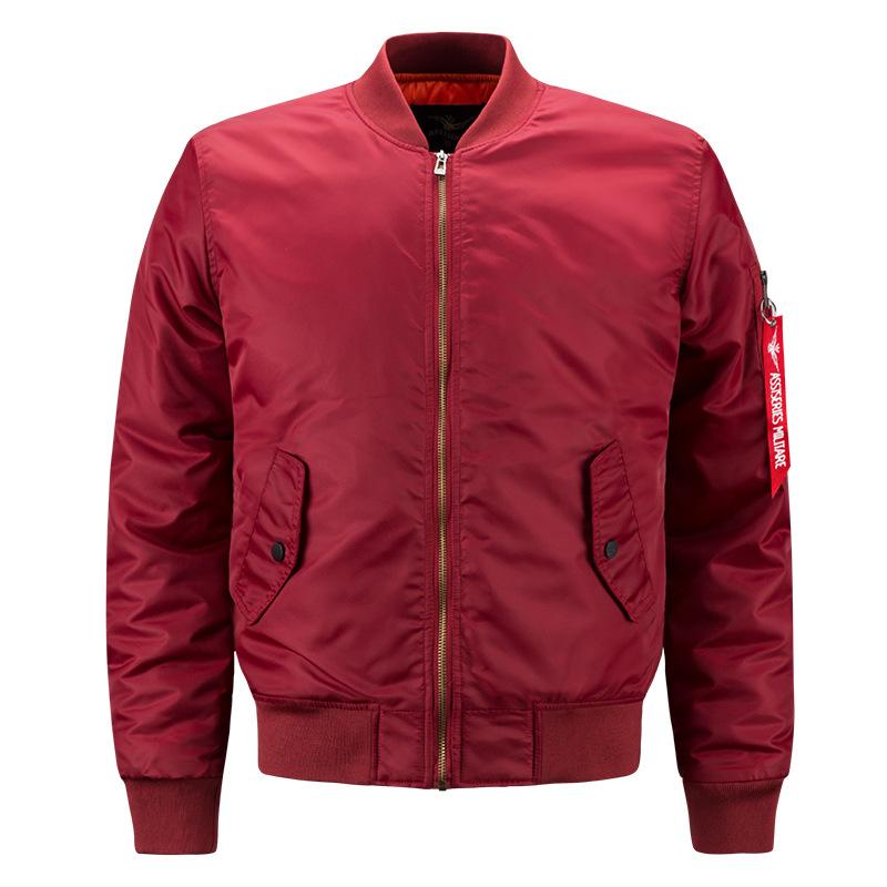 Spring and autumn fat man large mens sports leisure collar jacket air force No.1 ma01 pilot mens Baseball Shirt