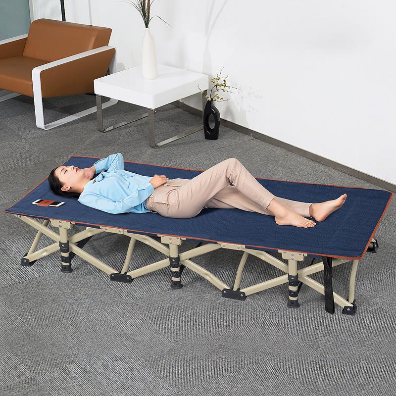 尚派新款折叠床单人办公午睡床躺椅折叠护腰午休床大人简易行军床