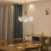 后现代轻奢水晶蒲公英餐厅吊灯北欧简约客厅个性创意温馨卧室灯具